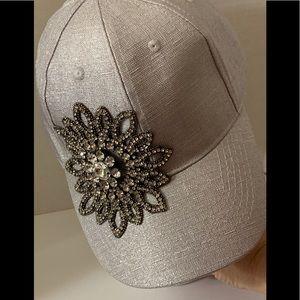 Accessories - New Silver/crystal ladies cap